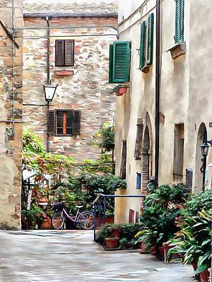 Photograph - Green Interlude Pienza by Dorothy Berry-Lound