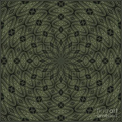 Digital Art - Green K12-03082019-1 by Doug Morgan