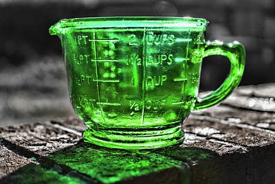 Photograph - Green Measuring Cup by Sharon Popek