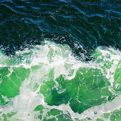 Photograph - Green Ocean Waves by Marianna Mills