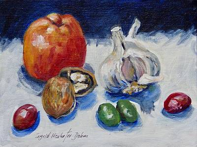Painting - Green Olives by Ingrid Dohm