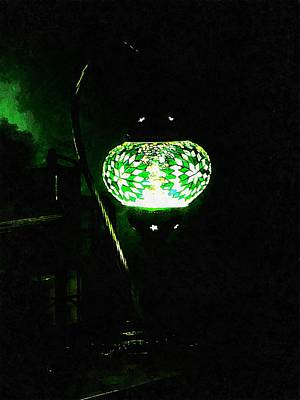 Photograph - Green Oriental Mosaic Lamp by Dorothy Berry-Lound