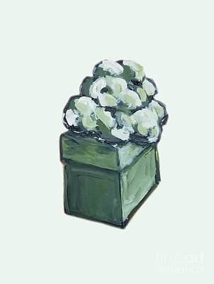 Painting - Green Present by Maria Langgle