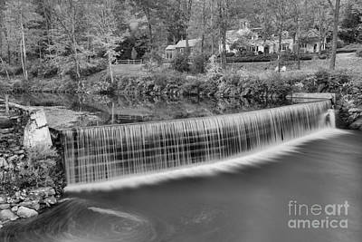 Photograph - Green River Crib Dam Black And White by Adam Jewell