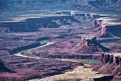 Photograph - Green River Moonscape by Andy Crawford