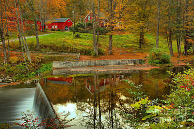 Photograph - Green River Village Fall Reflections by Adam Jewell