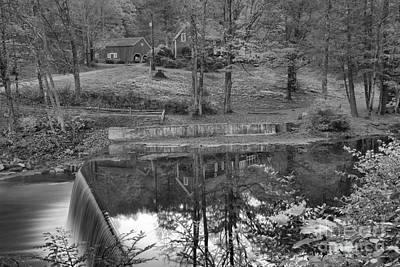 Photograph - Green River Village Fall Reflections Black And White by Adam Jewell