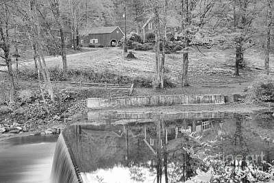 Photograph - Green River Village Homestead Reflections Black And White by Adam Jewell