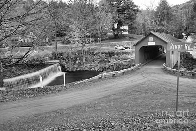 Photograph - Green River Village Vermont Black And White by Adam Jewell