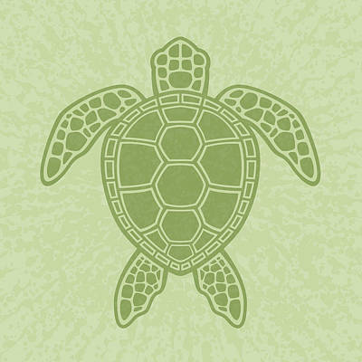 Royalty-Free and Rights-Managed Images - Green Sea Turtle by John Schwegel