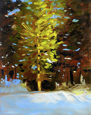 Painting - Green Sparkle by Nancy Merkle