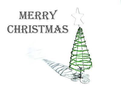Photograph - Green Tree - Merry Christmas by Helen Northcott