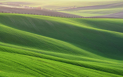 Photograph - Green Waves Of Rolling Hills by Vlad Sokolovsky
