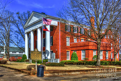 Photograph - Greene County Court House Historic Winter Court House Art by Reid Callaway