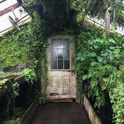 Photograph - Greenhouse Door by Wendy Erickson