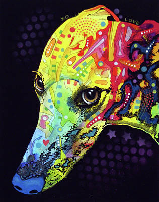 Painting - Greyhound  by Dean Russo Art