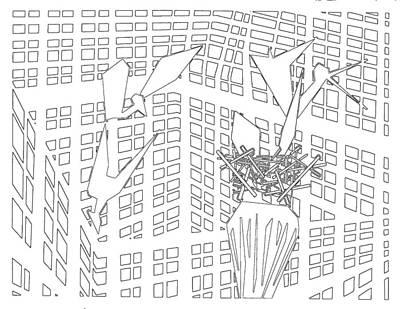 Digital Art - Gridismjr Bandw Birds In A Nest by Artist Dot