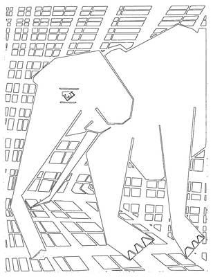 Digital Art - Gridismjr Bandw Elephant by Artist Dot