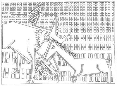 Digital Art - Gridismjr Bandw Lightning by Artist Dot