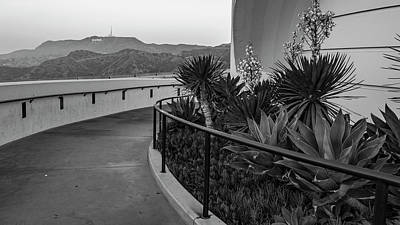 Photograph - Griffith Observatory Path And Hollywood Sign by John McGraw