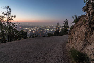 Photograph - Griffith Park Path To Los Angeles  by John McGraw