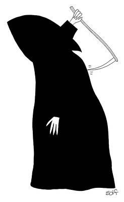 Drawing - Grim Reaper by Seth Fleishman