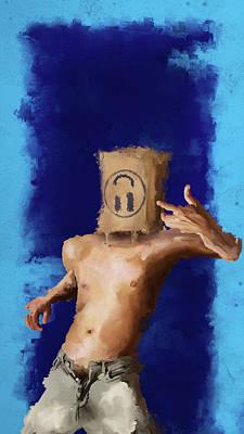Digital Art - Grin And Fucking Bear It. by Luke Blevins