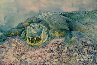 Painting - Grinning Gator by Amy Stielstra