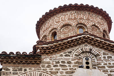 Photograph - Gritty Beauty - A Centuries Old Byzantine Church With Marvelous Masonwork by Georgia Mizuleva