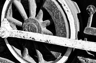 Photograph - Gritty Steam Engine Wheel by Tikvah's Hope