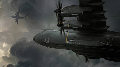 Digital Art - Grizzly - Airbus A400m by James Vaughan