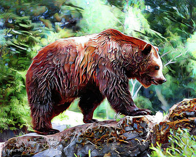 Digital Art - Grizzly Bear by Pennie McCracken