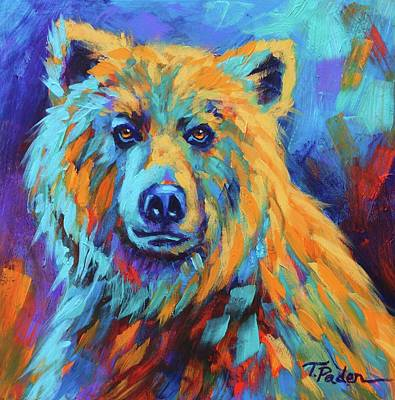 Wall Art - Painting - Grizzly Stare by Theresa Paden