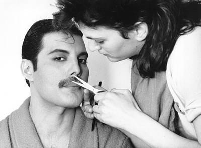 Freddie Mercury Wall Art - Photograph - Grooming Freddie by Steve Wood