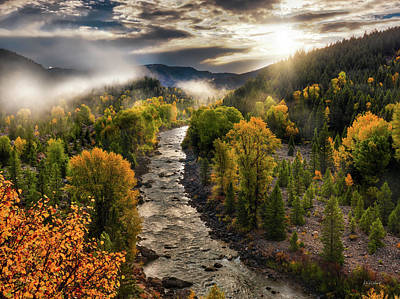 Art Print featuring the photograph Gros Ventre River Light by Leland D Howard