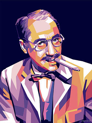 Colorful Button - Groucho Marx by Stars on Art