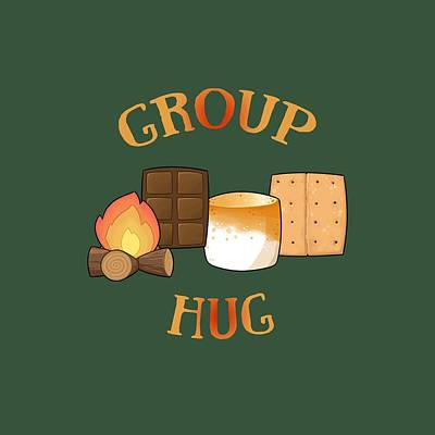 Digital Art - Group Hug by Heather Applegate