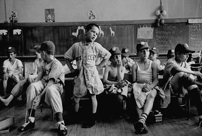 Photograph - Group Of Boys Club Little League Basebal by Yale Joel