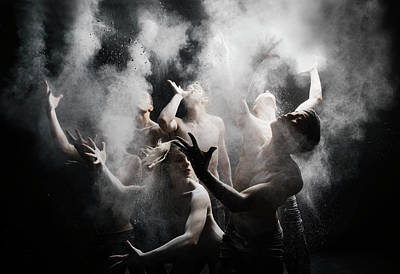 Photograph - Group Of Dancers With White Powder by Henrik Sorensen