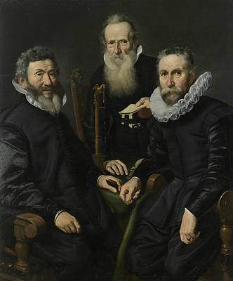 Painting - Group Portrait Of An Unknown College by Thomas de Keyser