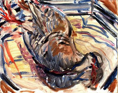 Painting - Grouse On A Silver Platter by Ann Heideman