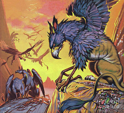 Painting - Gryphons by Angus McBride