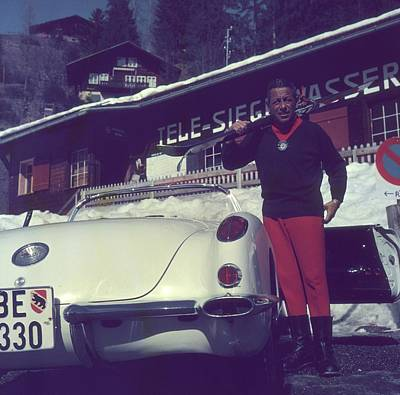 Ski Resort Photograph - Gstaad Skier by Slim Aarons