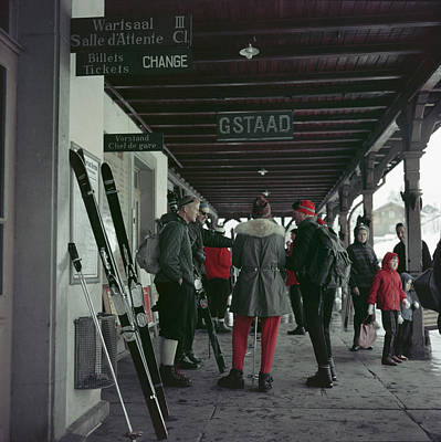 Photograph - Gstaad Station by Slim Aarons