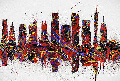 Painting - Guangzhou Colorful Skyline by Dan Sproul