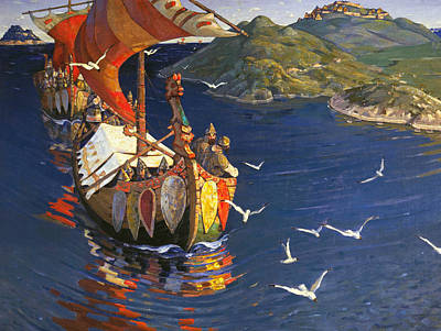 Painting - Guests From Overseas by Nicholas Roerich
