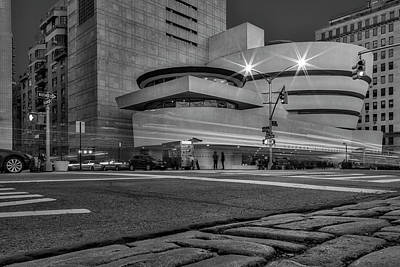 Photograph - Guggenheim Museum Nyc Bw by Susan Candelario