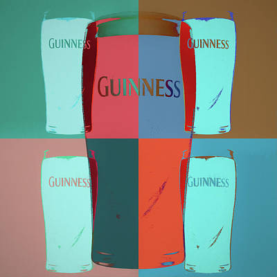 Beer Mixed Media - Guinness Pop Art by Dan Sproul
