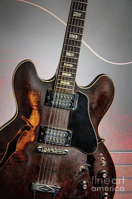 Photograph - Guitar Body Wall Art 1744.003 by M K Miller