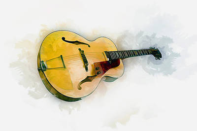 Digital Art - Guitar by Ian Mitchell